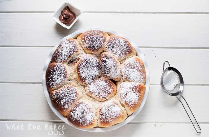 Nutella Buchteln (brioches austriacos rellenos de nutella)