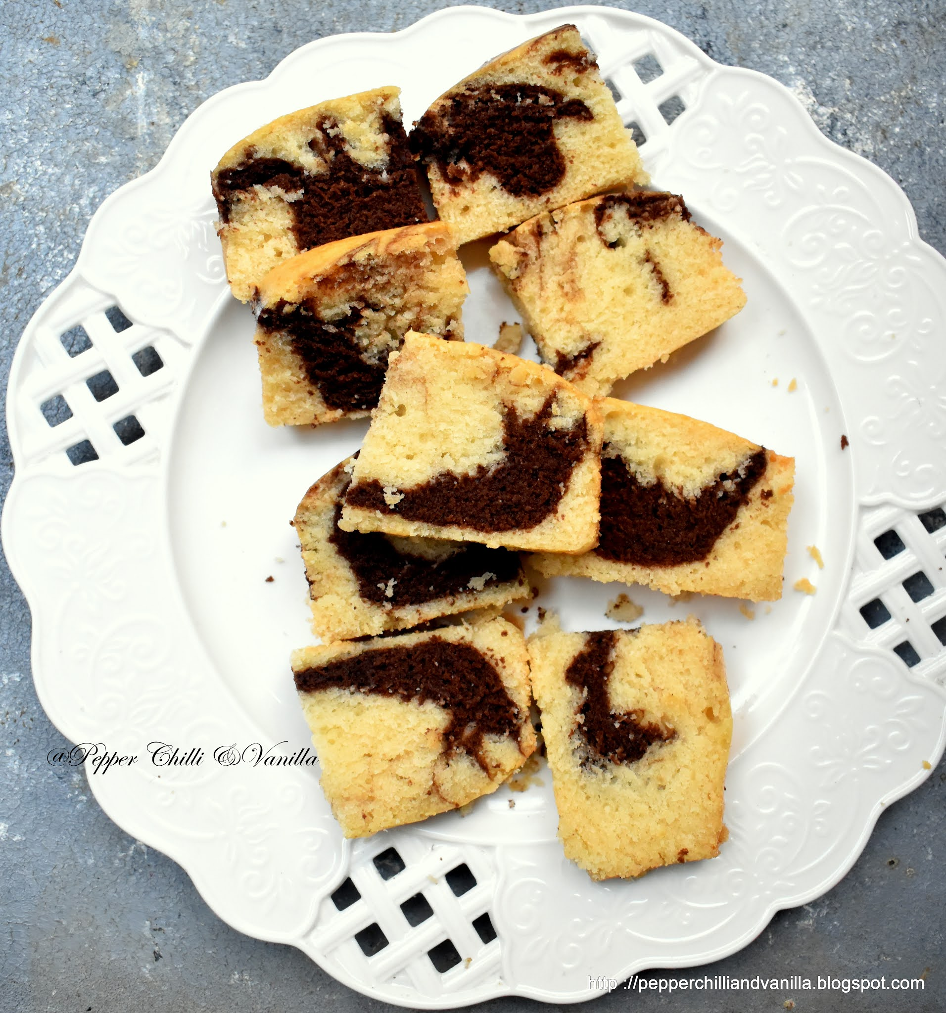 best eggfree marble hot milk cake
