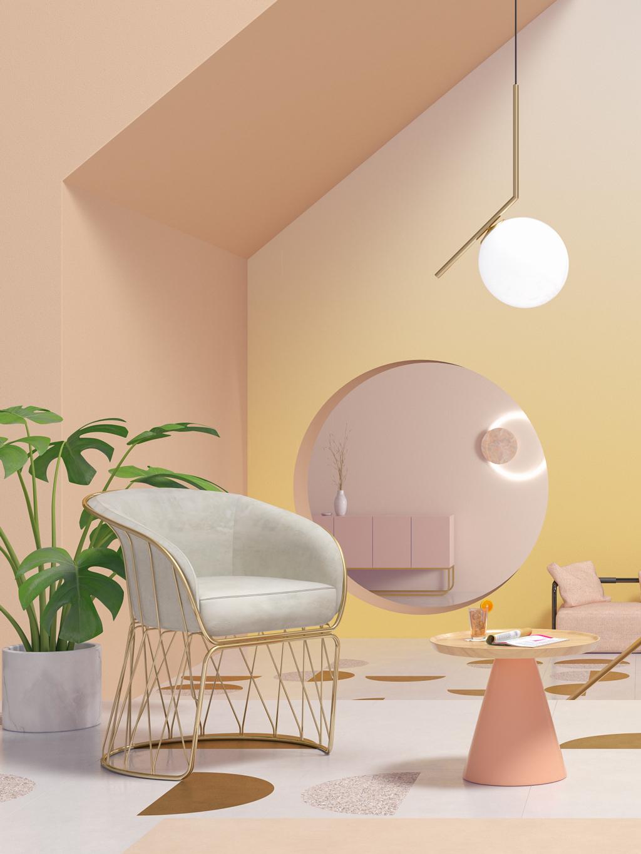 Delikatna kolorystyka w mieszkaniu