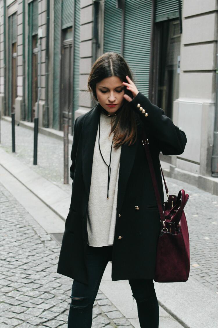 choker zara outfit blog de moda