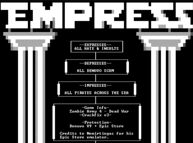 EMPRESS hacked Anno 1800 and released a new crack fix for Zombie Army 4