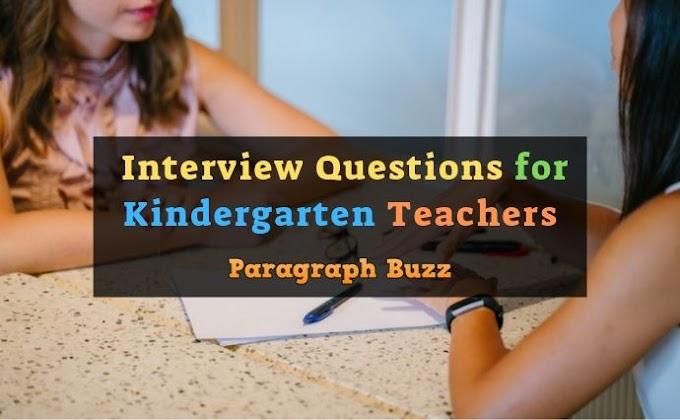 Top Interview Questions for Kindergarten Teachers