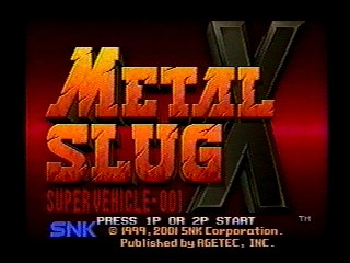 Metal Slug X PS 1 ISO For PC