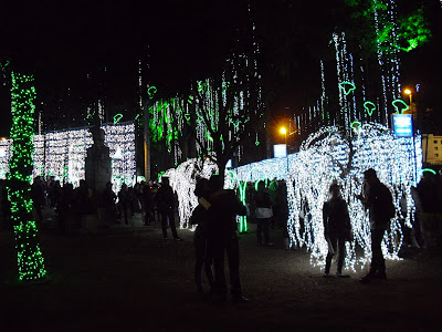 Some of Bogotá's Christmas lighting -- credit where credit is due