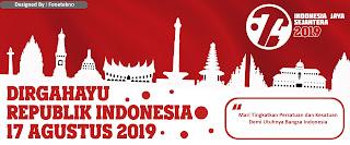 Download Desain Banner Spanduk HUT RI 74 Tahun 17 Agustus 2019
