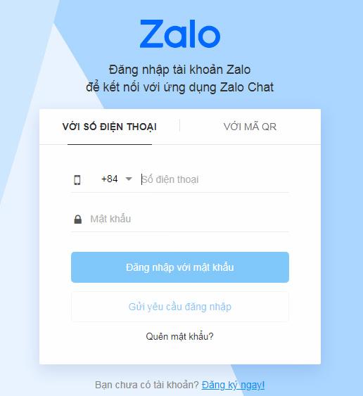 Cách 2: Đăng nhập Zalo bằng mã QR (QR CODE) a