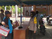 Patroli Polsek Balong sambangi perbankan dan warga desa Jalen.