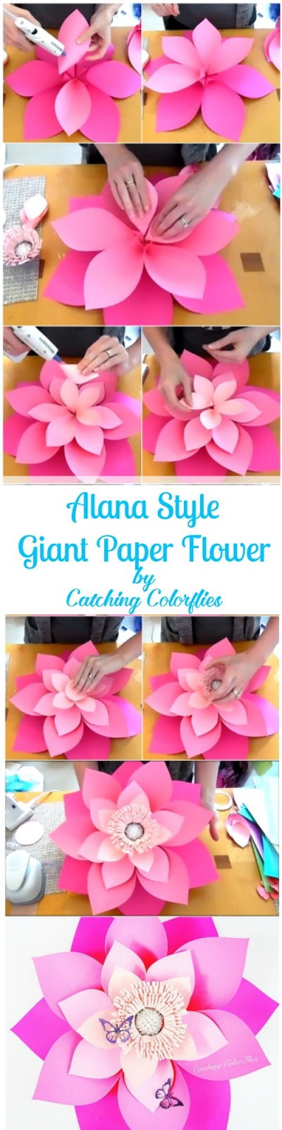 Mamas gone crafty how to make giant hawaiian paper flowers diy alana layered paper flower flower templates diy paper flower tutorials mightylinksfo