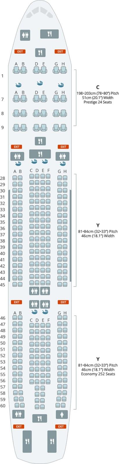 대한항공 A330-300 276석