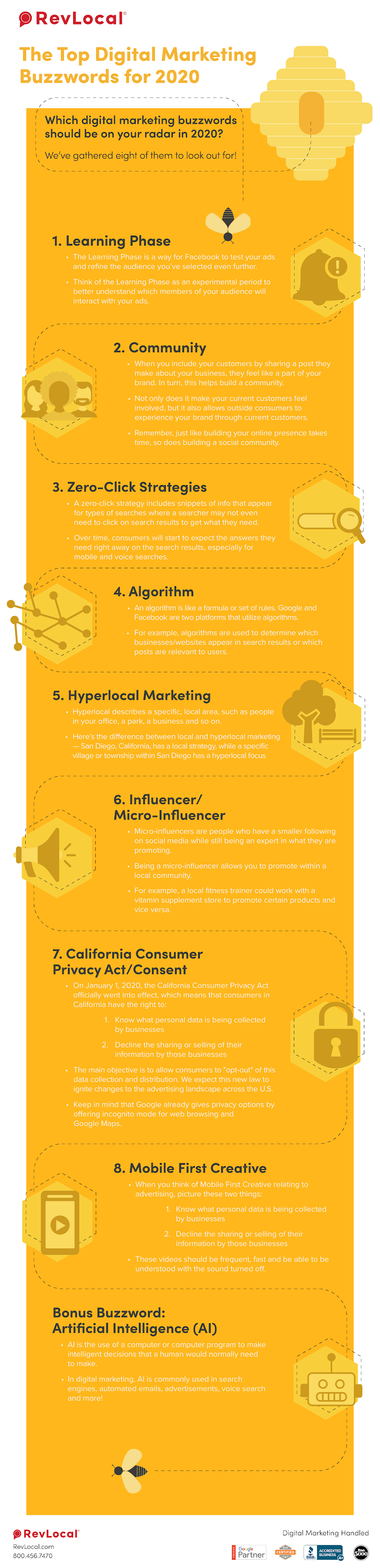 The Top Digital Marketing Buzzwords for 2020 #infographic