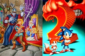 Greg Martin's Shining in the Darkness and Sonic the Hedgehog 2 Boxart