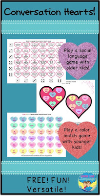 FREE Valentines Candy Hearts fun at Looks-Like-Language!