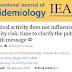 Atividade física não influencia risco de obesidade