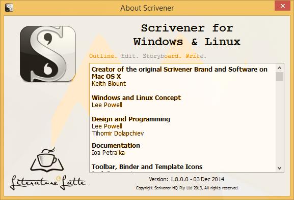 Scrivener 1.8.0