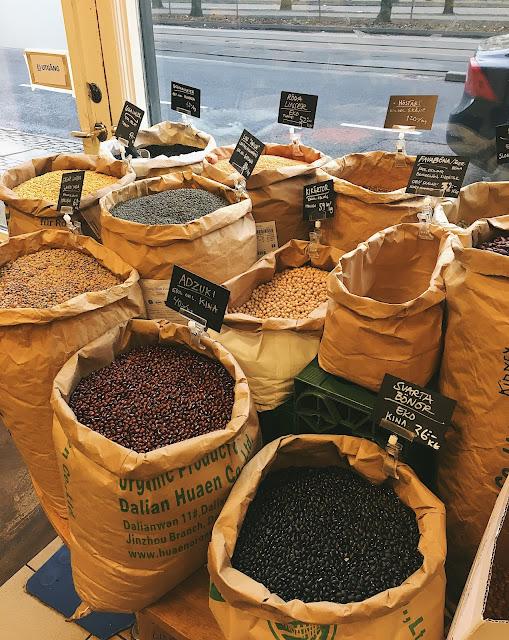Fram økologiske butikk med løsvektvarer i Gøteborg