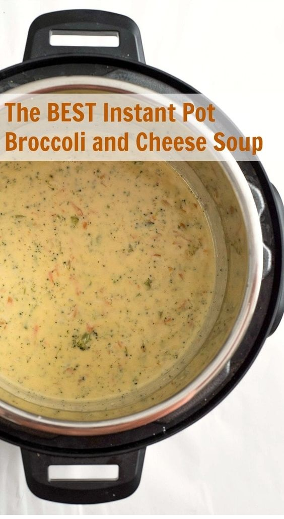 The Best Instant Pot Broccoli And Cheese Soup