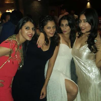 Minissha Lamba Heavy Melons & Deep Cleavy at Friend's Birthday Party