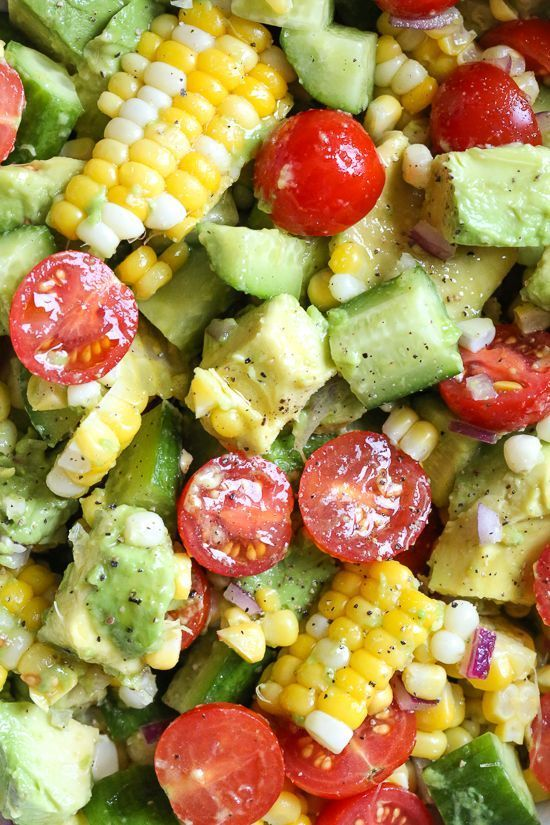 CORN TOMATO AVOCADO SALAD #recipes #healthyfoodrecipes #food #foodporn #healthy #yummy #instafood #foodie #delicious #dinner #breakfast #dessert #lunch #vegan #cake #eatclean #homemade #diet #healthyfood #cleaneating #foodstagram