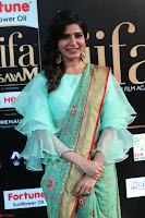 Samantha Ruth Prabhu Smiling Beauty in strange Designer Saree at IIFA Utsavam Awards 2017  Day 2  Exclusive 16.JPG