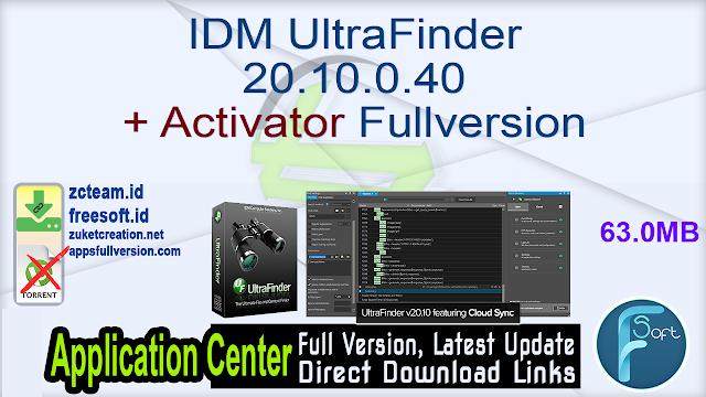 IDM UltraFinder 20.10.0.40 + Activator Fullversion