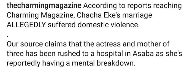 How Chacha Eke's marriage crashed over alleged domestic violence