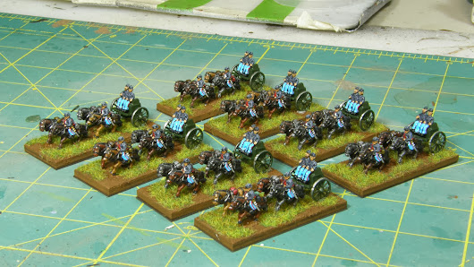 Painted 10mm American Civil War Limbers from Pendraken