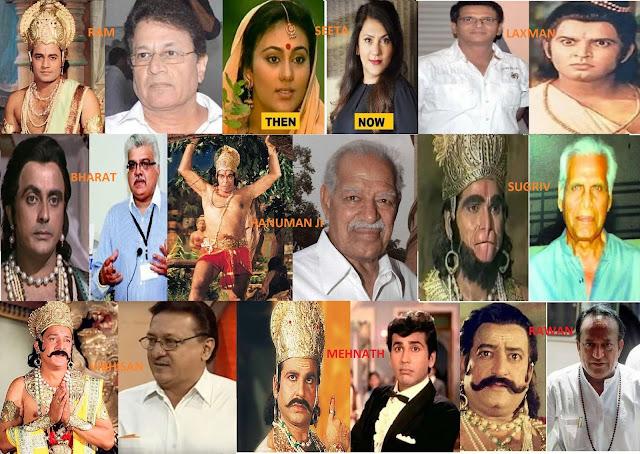 रामायण पात्र राम, सीता, लक्ष्मण, भरत, हनुमान ,सुग्रीव, विभीषण ,मेघनाथ और रावण