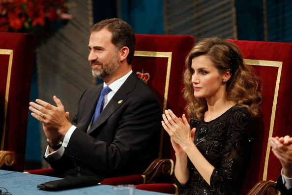 Queen Sofia of Spain, Crown Prince Felipe and Crown Princess Letizia