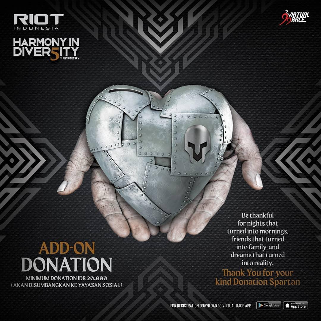 Donation 💌 RIOT 5th Anniversary Virtual Run • 2021