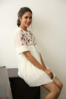 Lavanya Tripathi in Summer Style Spicy Short White Dress at her Interview  Exclusive 148.JPG