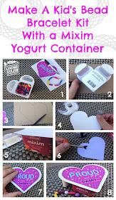 Make A Kid's Bead Kit From Mixim Yogurt Container #MiximLove #ad