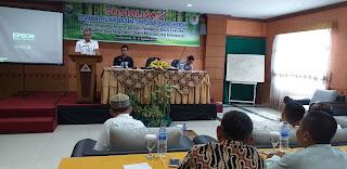 Kabid PPH Dinas Kehutanan Provinsi Jambi Membuka Secara Resmi Sosialisasi Pelayanan Perizinan Berusaha Terintegrasi Secara Elektronik.