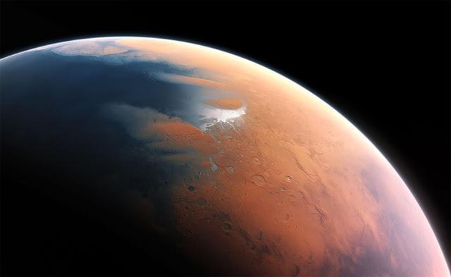 Antigos oceanos em Marte