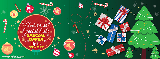 Free Christmas sale Vector banner
