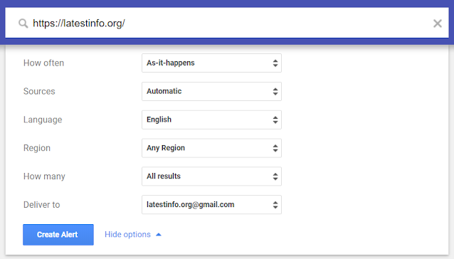 get information when a post is indexed on google