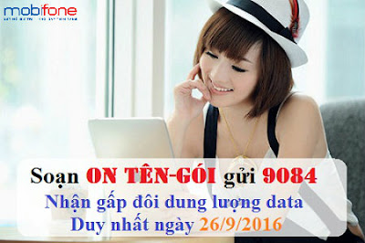 Khuyến mãi data 3G Mobifone
