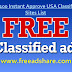 Top 100+ Instant Approval USA Classifieds Sites | Free USA Classified Submission Ads Sites List 2019