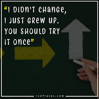 I didn't change, I just grew up. You should try it once