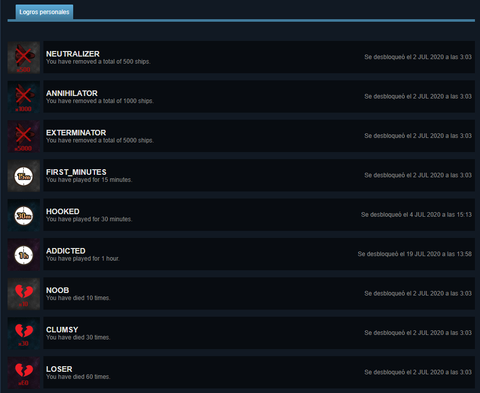 Retro War logros Steam cuenta de Madirex