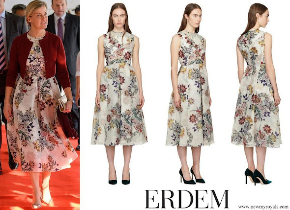 Countess Sophie wore Erdem White Ailie Dress
