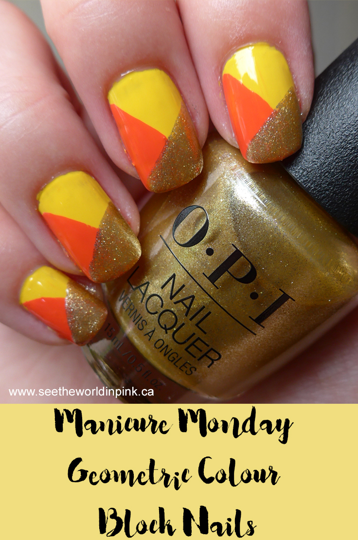 Manicure Monday - Bright, Summery Geometric Colour Block Nails