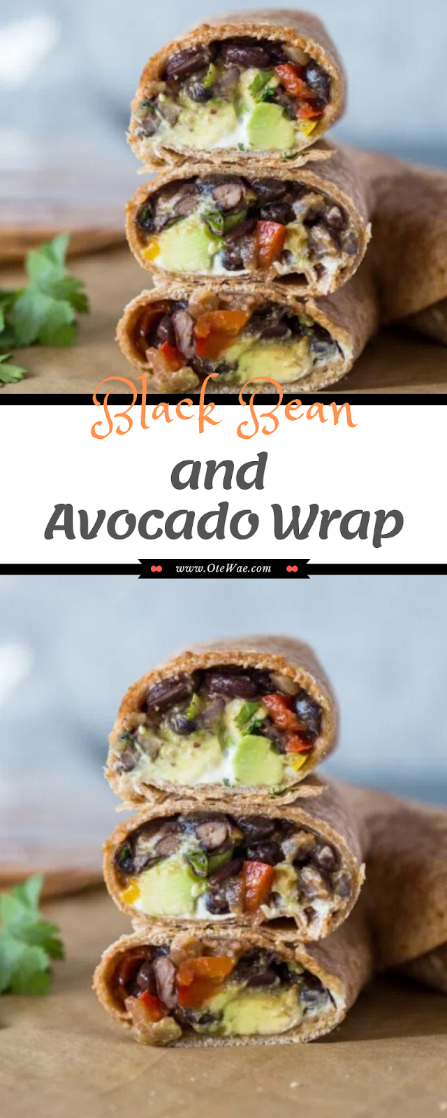 Black Bean and Avocado Wrap