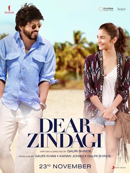 Poster of Dear Zindagi 2016 Hindi 720p DVDRip Full Movie Download