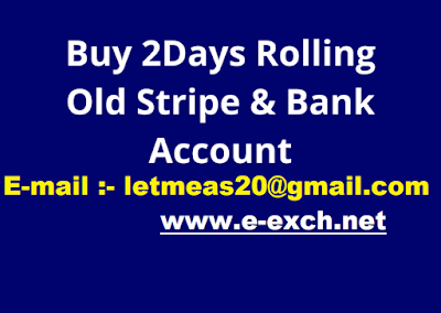 Buy 2Days Rolling Old Stripe + Bank Account As Non USA Citizen