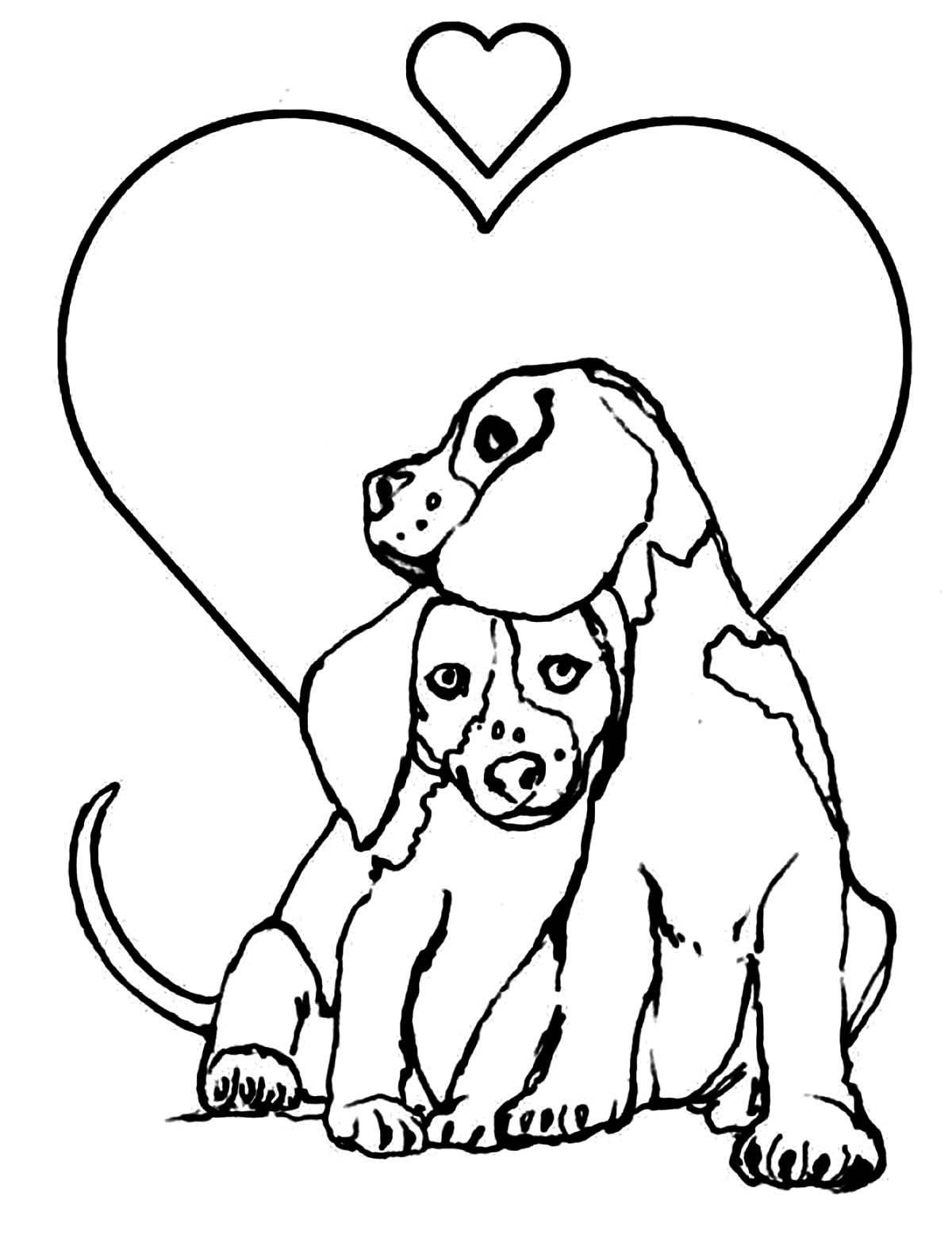 Dogs coloring pages 69