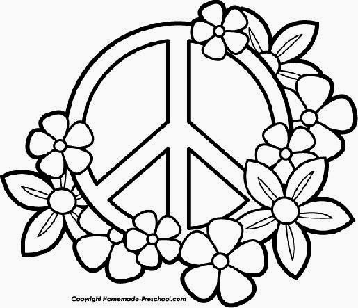 Peace Sign Coloring Pages Balloons