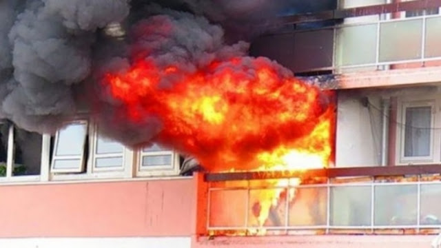 33-year-old mentally ill set fire to his apartment in Elbasan