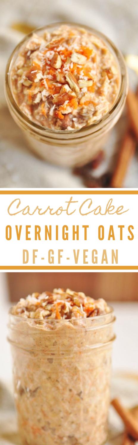 CARROT CAKE OVERNIGHT OATS #vegan #vegetarian #dinner #yummy #healthyrecipes