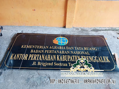 Model Papan Nama Batu Granit