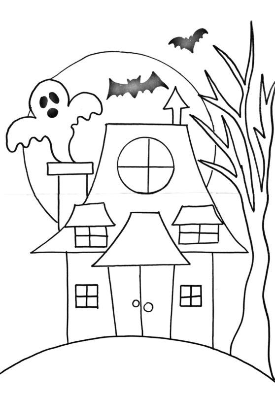 Tranh tô màu Halloween cho bé tập tô